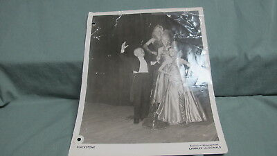 Vintage  HARRY BLACKSTONE Sr. Photo  WORN