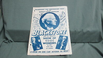 Vintage  HARRY BLACKSTONE Sr. Program Lyceum Theatre