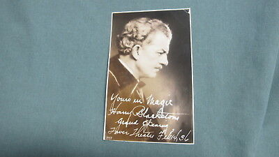 Vintage 1936 Post Card HARRY BLACKSTONE Sr.