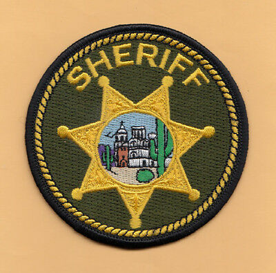 H19 * Pima County Sheriff Tucson State Police Patch Green Round