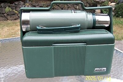 Stanley Aladdin 2 Piece Work Lunch Box Pail and Thermos Combo with Handle Green