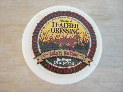 Vintage IRISH SETTER All Natural Leather Dressing 3/4 oz Redwing Boot Sample NOS