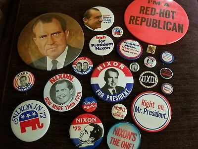 Vintage Political Nixon Election Campaign Buttons Pins Great Variety Nice!!