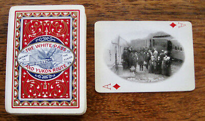 The White Pass and Yukon Route Souvenir Playing Cards, copyright 1900