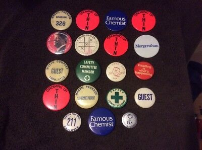 Lot Of Pin Back Buttons 19 Total