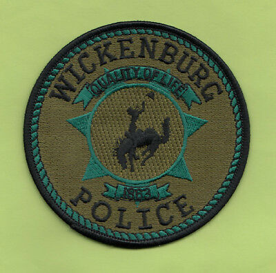 H34 * Swat Srt Wickenburg Arizona Police Highway State Patch Route 66 Green