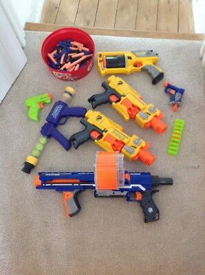 Large Bundle Of Nerf Guns And Accessories