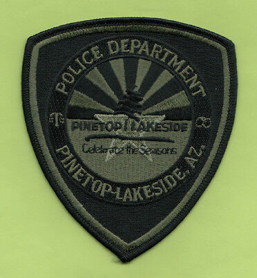 H30 * Rare Pinetop Lakeside Swat Od Green Arizona State Police Highway Patch