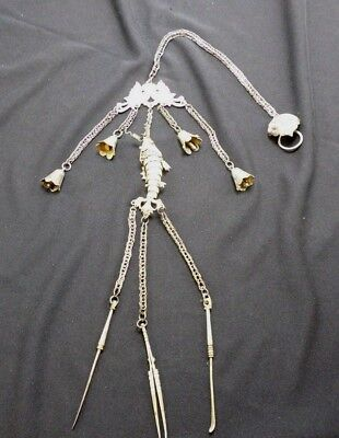 Antique Chinese Sterling Silver Opium Tool Chatelaine