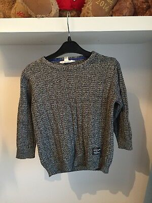 Boys River Island Grey Jumper 12-18 Months