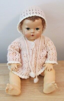 "Vintage Effanbee Dydee Light Pink Sweater Set For 20"" Doll"