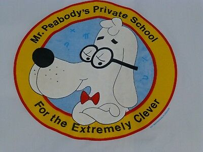 Vtg Mr. Peabody's Private School For the Extremely Clever Shirt M Used DeSantis