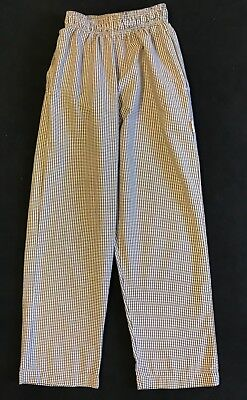 Chef Works Size XS Brown Gingham Chef Pants