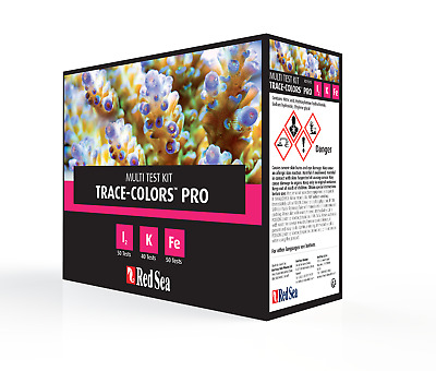 Red Sea Trace Colours Pro Test Kit Coral Colors Iodine Iron Potassium Marine