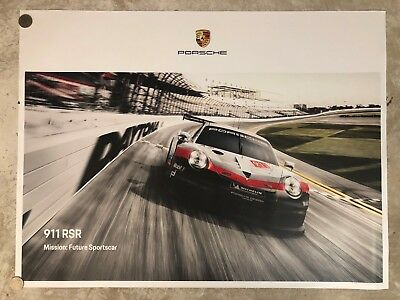 2018 Porsche 911 GT3 RSR Coupe Showroom Advertising Poster RARE!! Awesome L@@K