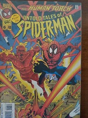 Untold Tales Of Spider-Man #6 Vf Marvel Comics The Human Torch App