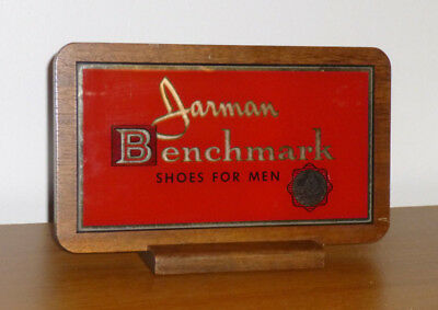 Jarman Benchmark Shoes - Antique - Mirror Glass and Wood - Advertisitng Display