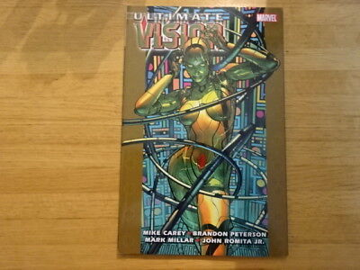 Rare Copy Of Ultimate Vision Tpb Graphic Novel! Marvel!