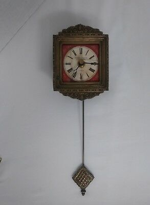 Rundell And Bridge Brass Pendulem Clock—Battery Operated—Working