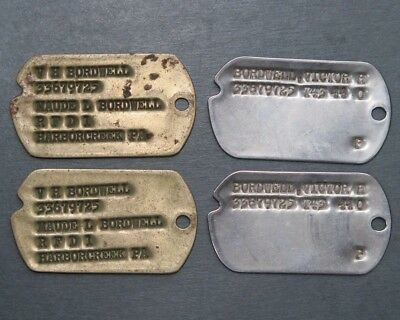 Four WWII Dog Tags to the same soldier