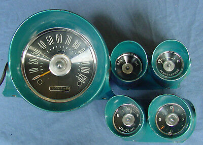 1959 60 Chevy Impala Original Gauges Speedometer Gas Clock