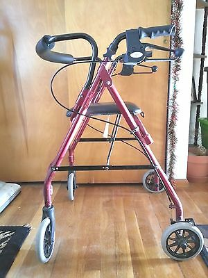 Medline Mds 86810 Rolling Walker Burgundy - Gently Used, But Great Condition