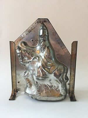 ANTIQUE ST NICK ON HORSE CHRISTMAS CHOCOLATE MOLD ges gesch