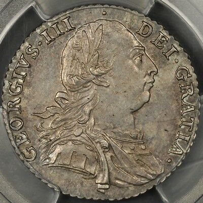 1787 Pcgs Ms62 Great Britain Shilling S-3746 With Hearts