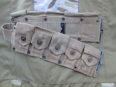 WWII WW2 BELT ARMY MILITARY M1 Garand belt  M1903   Cartridge ammo PARATROOPER