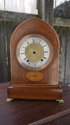 super quality satin wood inlay-ed beehive shaped bracket clock case only