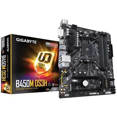 Gigabyte AMD B450M-DS3H Socket AM4 ATX Gaming Motherboard 4x DDR4 M.2 HDMI DP