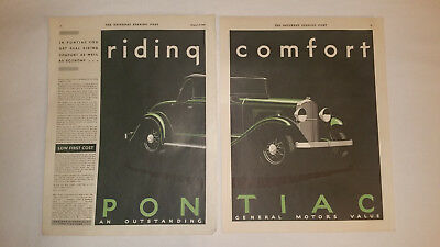 1931 Pontiac Two Page Antique Vehicle Poster Bill Ad Auto Art Classic Poster Car