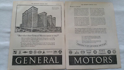 1923 General Motors Antique Two Page Gm Magazine Article Print Ad Art Picture