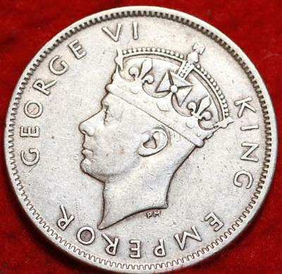1943-S Fiji One Silver Florin Foreign Coin