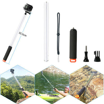 Floating Transparent Extension Pole Selfie Stick For GoPro Hero 6 5 4 3 Plastic