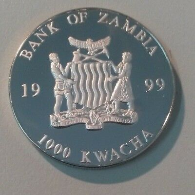 1999 Bank of Zambia 1000 Kwacha Coin  - European Unity One Currency