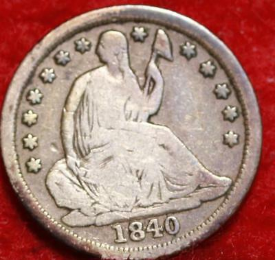 1840-O New Orleans Mint Seated Liberty Silver Half Dime