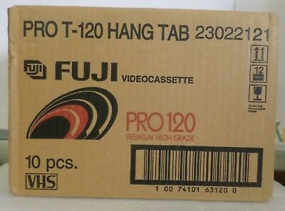 Fuji Film Pro 120 Premium High Grade Blank VHS Tapes 10 Pack BRAND NEW IN WRAP