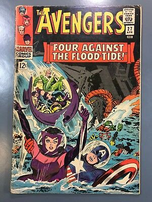 The Avengers No. #27 1966 Silver Age Stan Lee - Attuma and Beetle Appearance