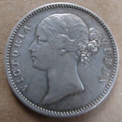 1840 East India Company One Rupee Silver Coin Queen Victoria British COA