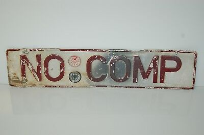 "Vintage German BUNDESFINANZVERWALTUNG License Plate "" NO COMP "" 20 1/4"" x 4 1/2"""