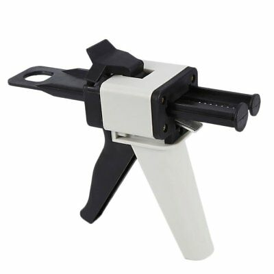 Dental Impression Mixing Dispenser Gun Caulking 50ml 1:1/2:1 Silicone Rubber
