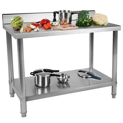 Adjustable Height Kitchen Table Double Stainless Steel Workbench Thicken-type fg