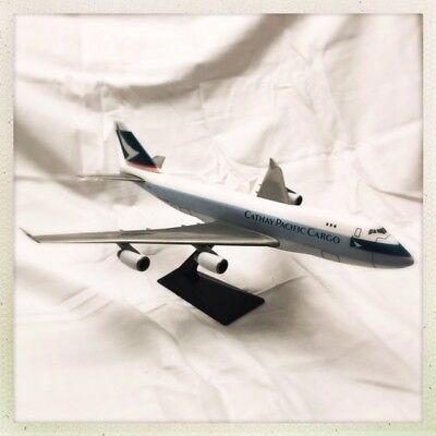 Cathay Pacific Cargo Boeing 747 w/stand ~RARE~FREE FAST SHIPPING