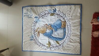 Peter Rabbit Cot Quilt- Beautiful - A Treasure