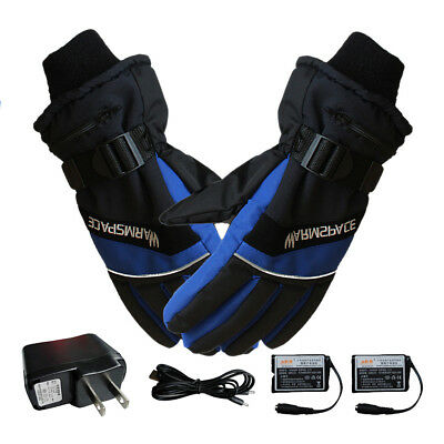 Winter Warm Rechargeable Electric Heated Gloves for Motorcycle w/4000MAH battery