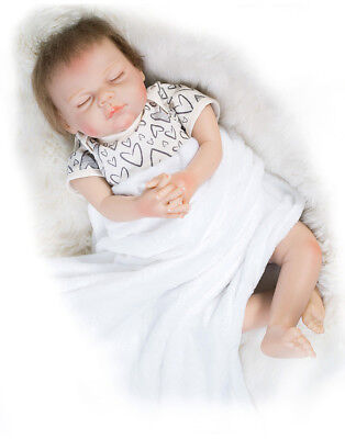 "21"" Handmade Vinyl Silicone Reborn Baby Doll Sleeping Lifelike Girl Boy Dolls"