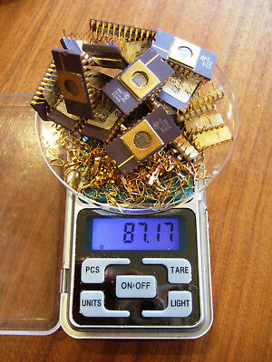 Scrap Gold Vintage Integrated Circuits and Pins for Gold Recovery 87g