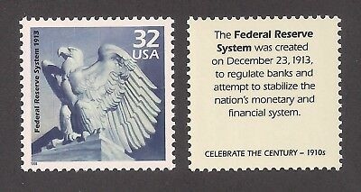 Federal Reserve System Created 1913 - U.s. Postage Stamp - Mint Condition