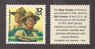 Formation Of Boy & Girl Scouting 1910-1912 - U.s. Postage Stamp - Mint Condition